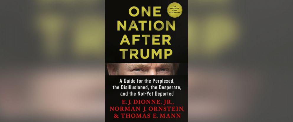 """PHOTO: """"One Nation After Trump"""" by E. J. Dionne, Jr., Norman J. Ornstein and Thomas E. Mann"""