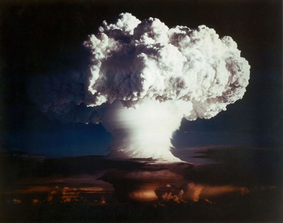 PHOTO: Detonation of nuclear device Ivy Mike during Operation Ivy, 1952.