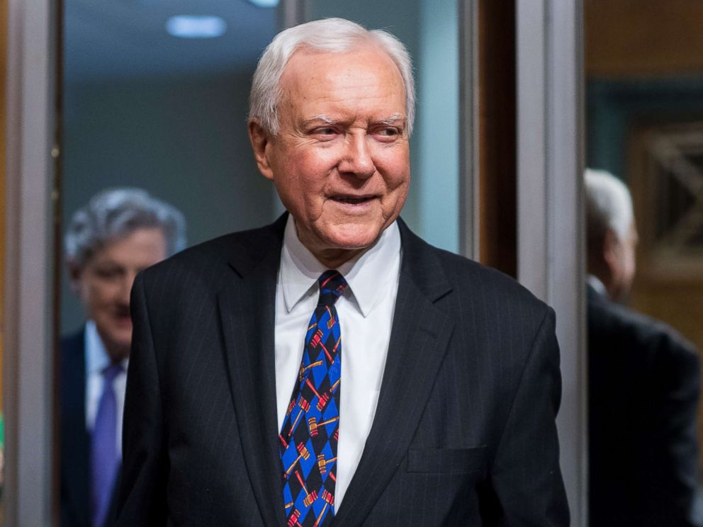 PHOTO: Sen. Orrin Hatch arrives for the Senate Judiciary Committee hearing on Protecting and Promoting Music Creation for the 21st Century, May 15, 2018.