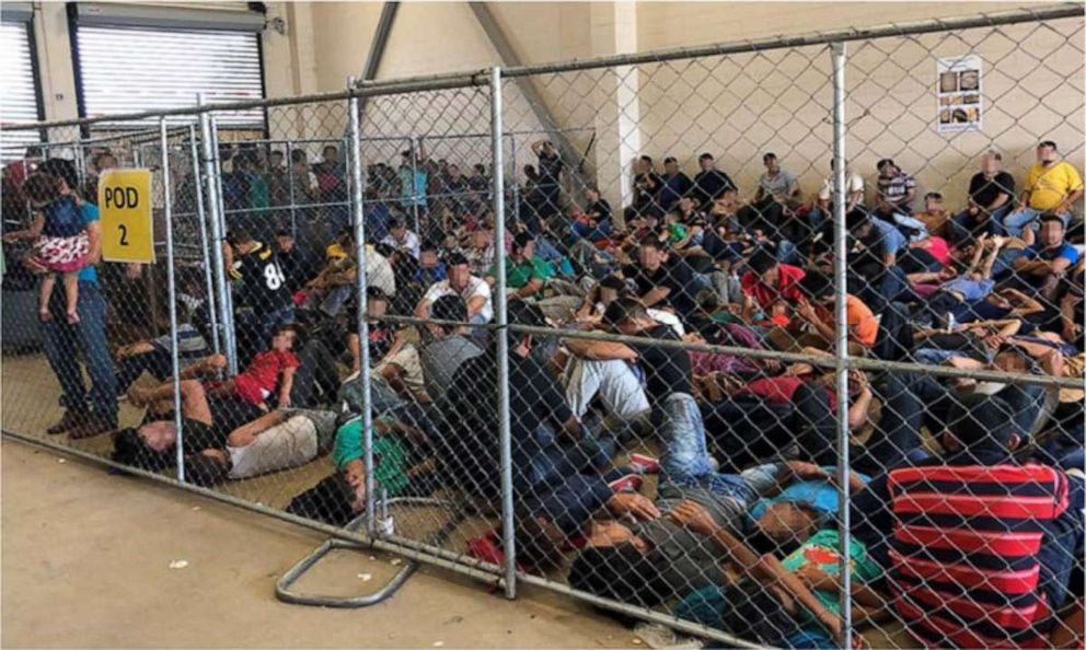 PHOTO: Overcrowding of families observed by Office of Inspector General, June 10, 2019, at Border Patrol�s McAllen, TX, Station.