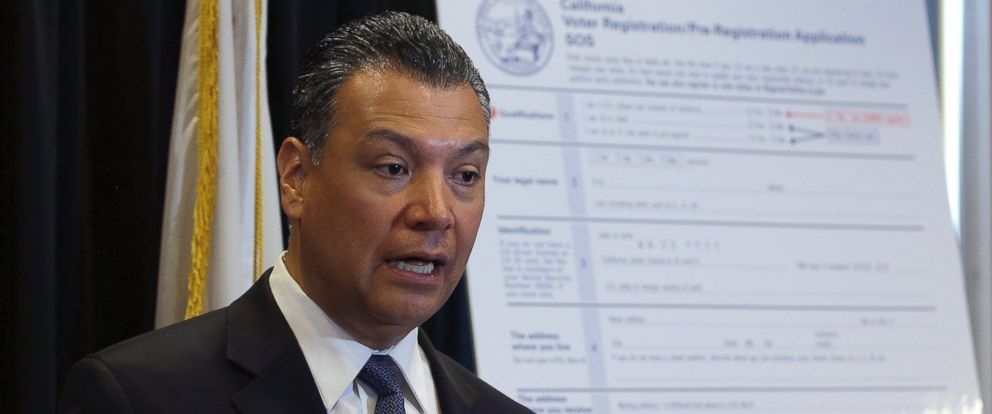 PHOTO: In this April 5, 2018, file photo, California Secretary of State Alex Padilla speaks in Sacramento, Calif. Padilla is urging Californians to oppose the Trump administration plan for a citizenship question on the 2020 census.