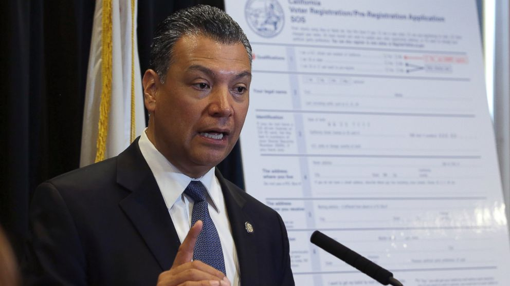 In this April 5, 2018, file photo, California Secretary of State Alex Padilla speaks in Sacramento, Calif. Padilla is urging Californians to oppose the Trump administration plan for a citizenship question on the 2020 census.