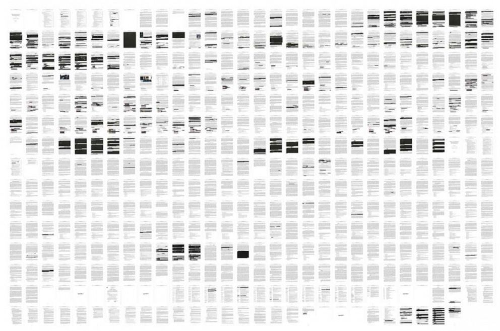 PHOTO: Pages from the special counsel Robert Muellers redacted report on Russian interference in the 2016 presidential election released on April 18, 2019.