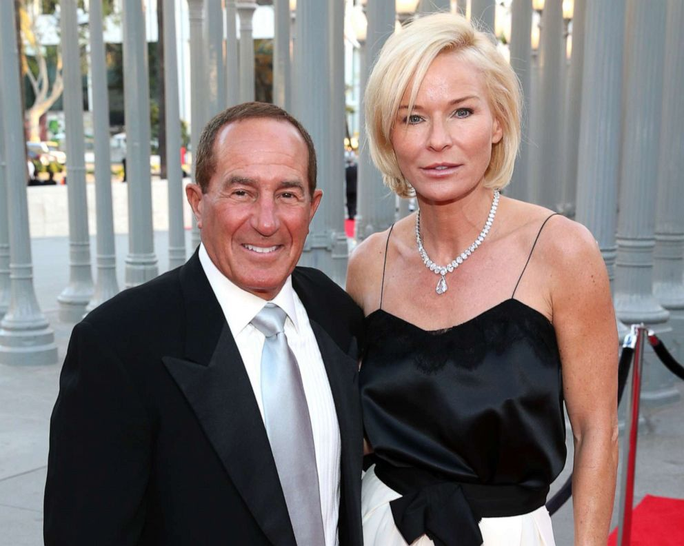 PHOTO: Geoffrey Palmer and Anne Palmer attend the LACMA 50th Anniversary Gala sponsored by Christies at LACMA on April 18, 2015 in Los Angeles, California.