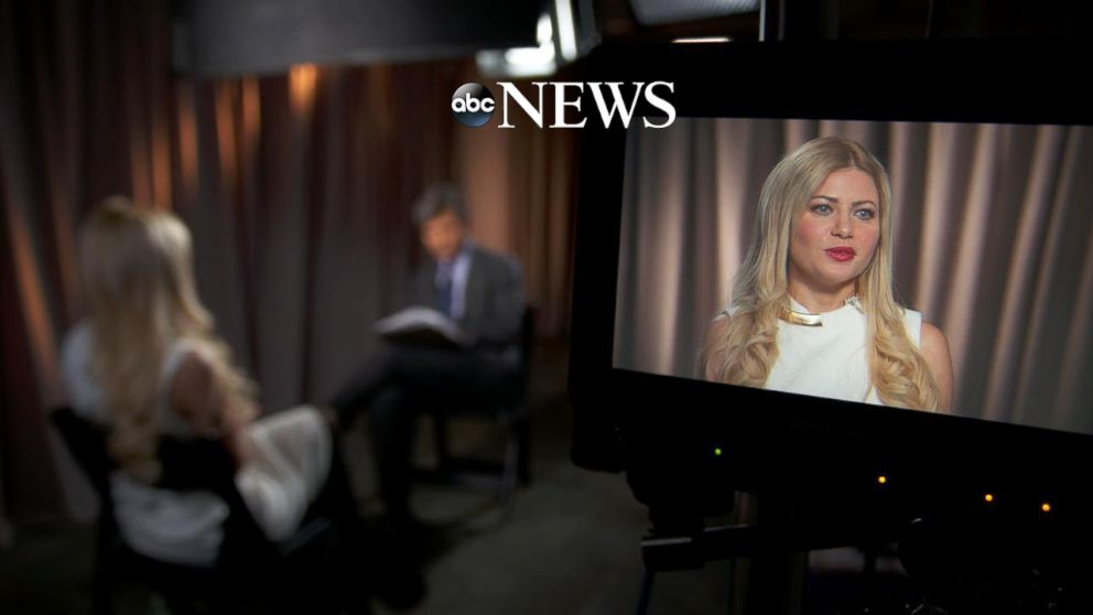 PHOTO: George Papadopoulos' fiancée, Simona Mangiante speaks with ABC News chief anchor George Stephanopoulos in an exclusive interview.