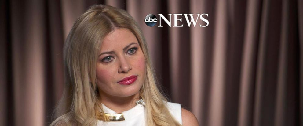 PHOTO: George Papadopoulos fiancee, Simona Mangiante, is interviewed by ABCs George Stephanopoulos.