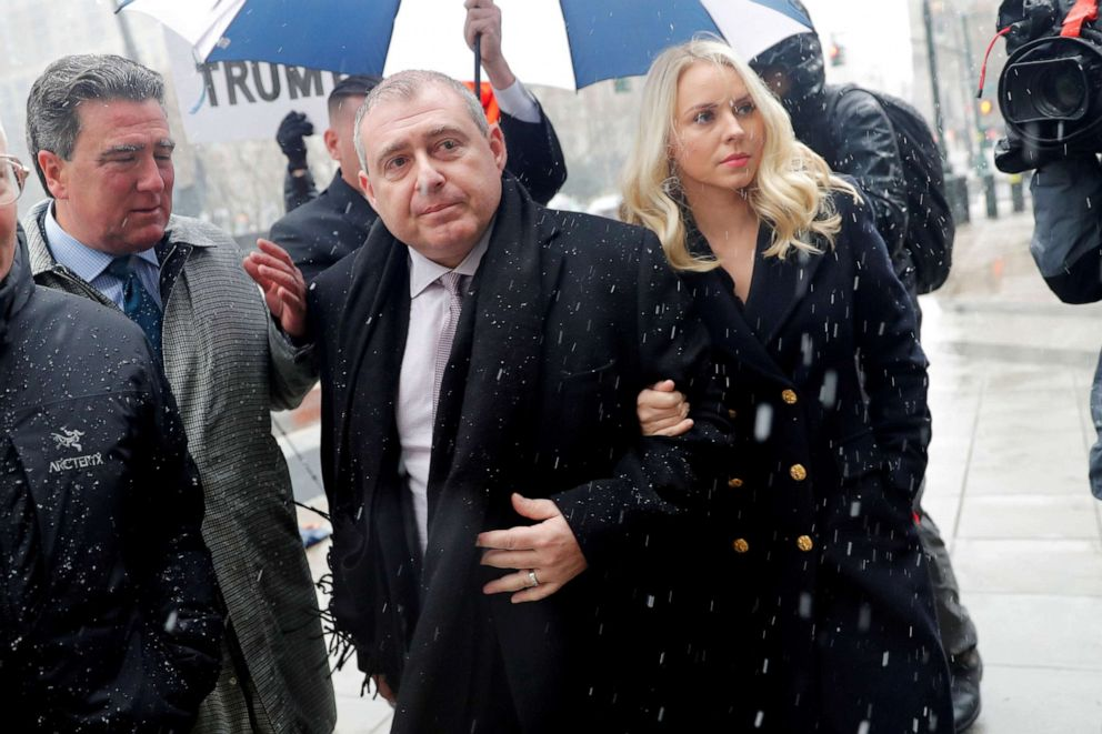 PHOTO: Ukrainian-American businessman Lev Parnas and his wife Svetlana arrive at the United States Courthouse in New York, Dec. 2, 2019.