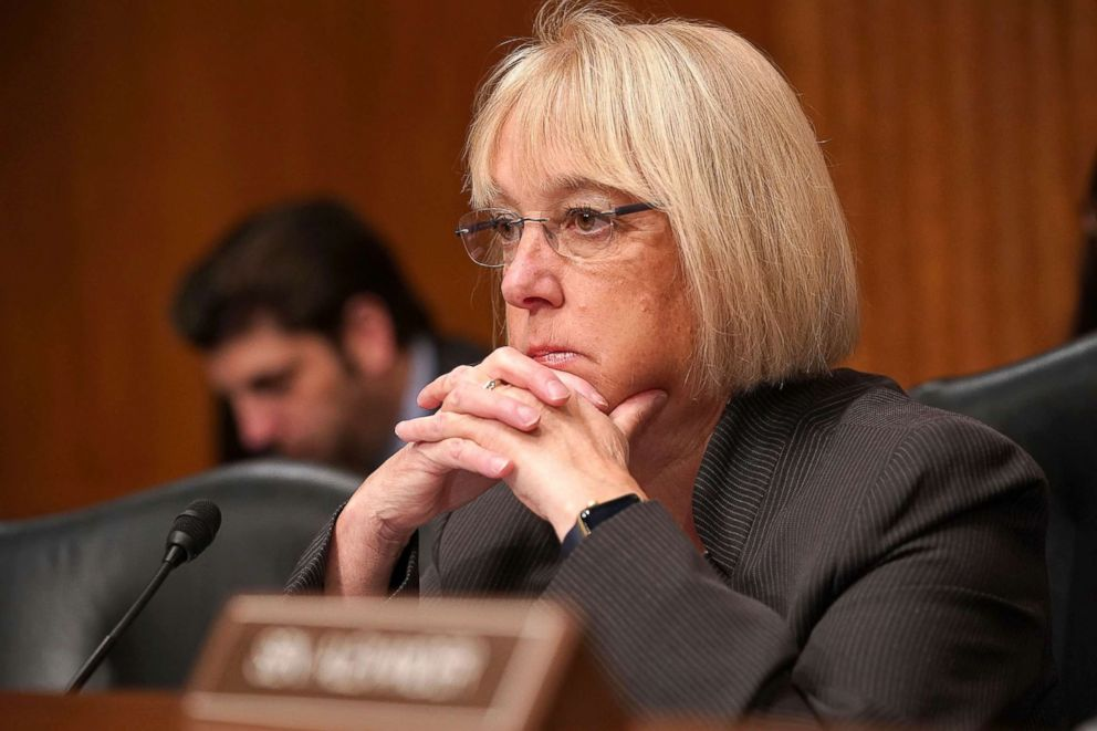 PHOTO: Senate Health, Education, Labor and Pensions Committee ranking member Sen. Patty Murray listens to testimony during a hearing on Capitol Hill, Nov. 15, 2017, in Washington.