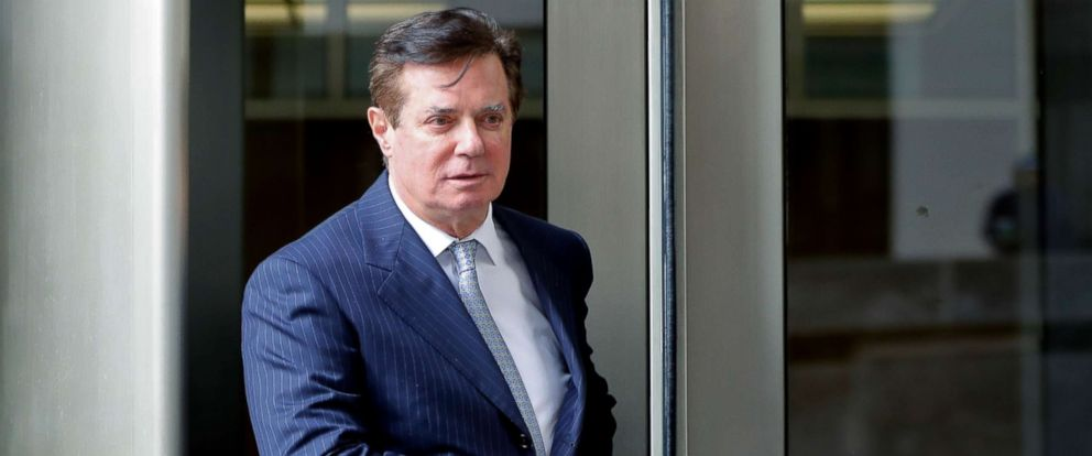 PHOTO: Paul Manafort, President Donald Trumps former campaign chairman, leaves the federal courthouse in Washington, DC., Feb. 14, 2018.