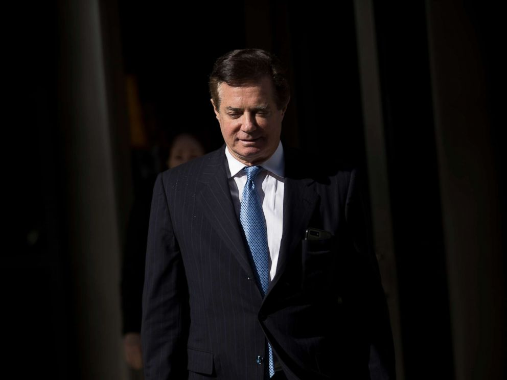 PHOTO: Paul Manafort, former campaign manager for Donald Trump, exits the E. Barrett Prettyman Federal Courthouse on Feb. 28, 2018, in Washington, D.C.