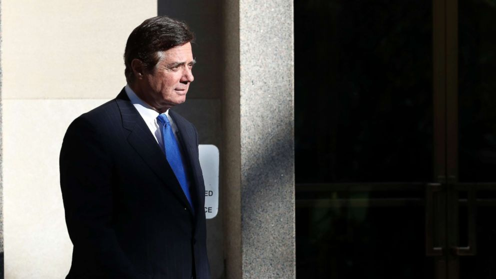 Paul Manafort walks from Federal District Court in Washington, Oct. 30, 2017. Manafort, President Donald Trump's former campaign chairman, and Manafort's business associate Rick Gates pleaded not guilty to felony charges of conspiracy against the United States and other counts.