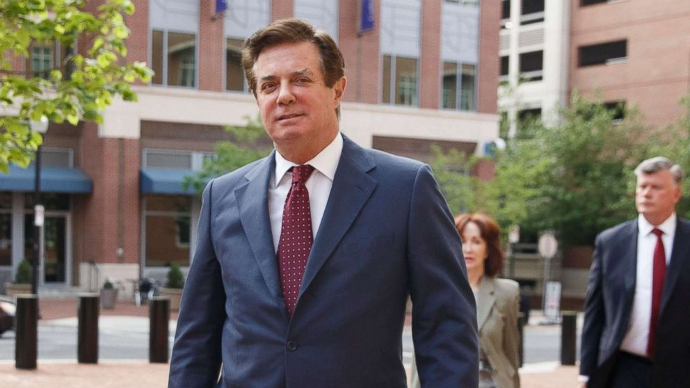 Former Trump campaign manager Paul Manafort arrives for a motion hearing at the U.S. District Court in Alexandria, Va., May 4, 2018.