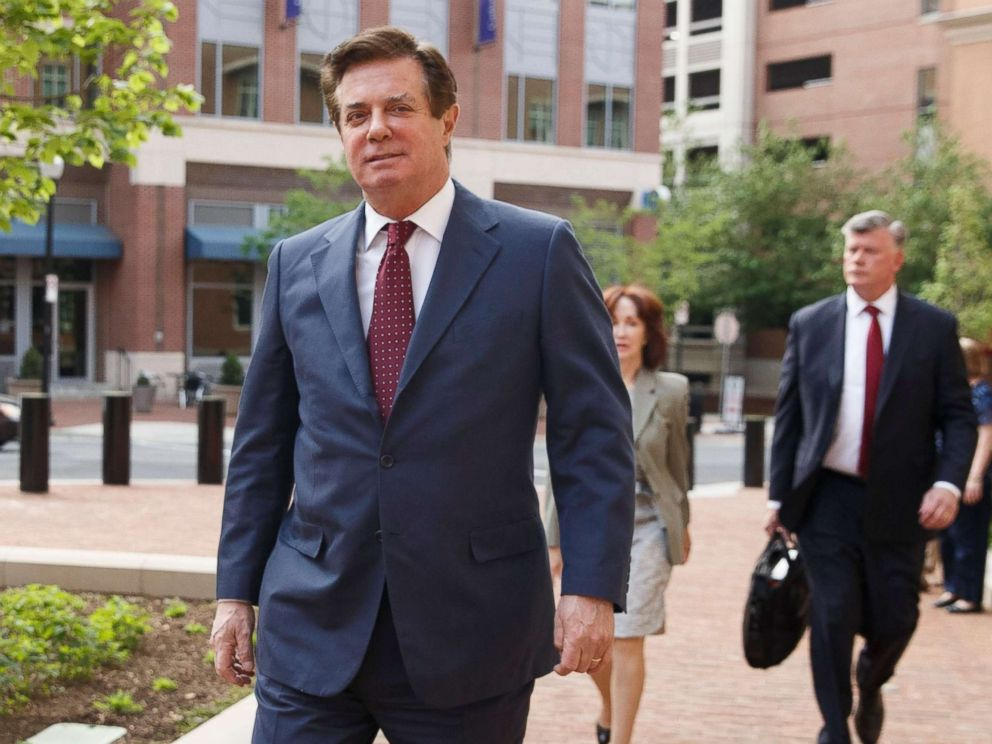 PHOTO: Former Trump campaign manager Paul Manafort arrives for a motion hearing at the U.S. District Court in Alexandria, Va., May 4, 2018.