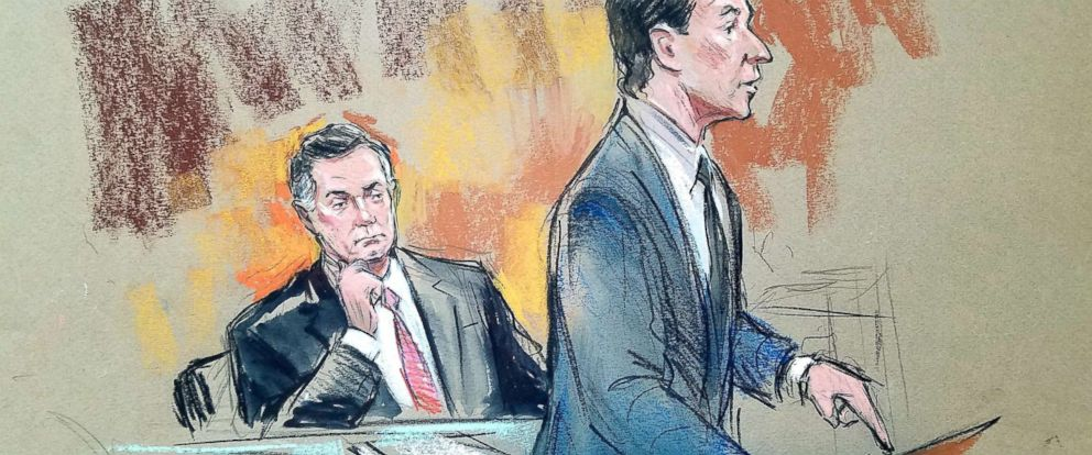 PHOTO: Paul Manafort is pictured in federal court in a sketch from Sept. 14, 2018.
