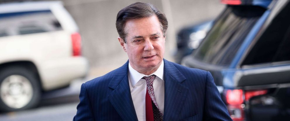 PHOTO: Paul Manafort arrives for a hearing at US District Court on June 15, 2018 in Washington, D.C.