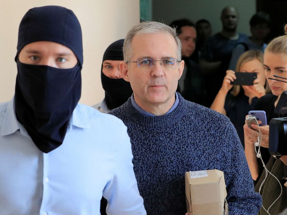 PHOTO: Paul Whelan is escorted inside a court building in Moscow, Aug. 23, 2019.