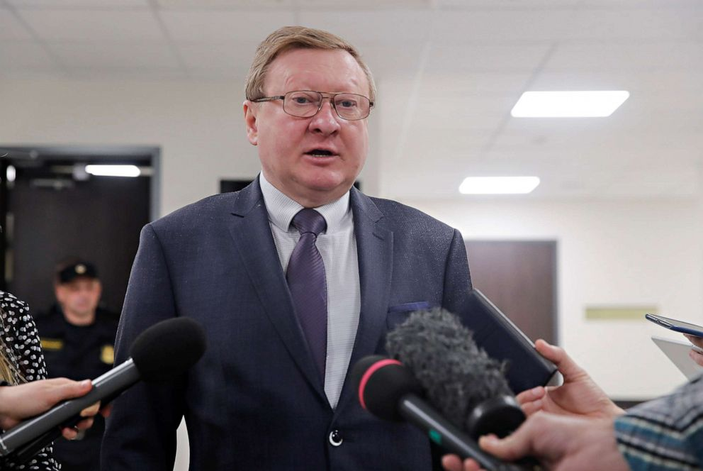 Vladimir Zherebenkov, lawyer of former U.S. Marine Paul Whelan, who was detained and accused of espionage, speaks with journalists after a court hearing in Moscow, Feb. 4, 2020. Vladimir Zherebenkov, lawyer of former U.S. Marine Paul Whelan, who was detained and accused of espionage, speaks with journalists after a court hearing in Moscow, Feb. 4, 2020.Maxim Shemetov/Reuters