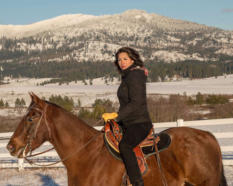 PHOTO: Paulette Jordan enjoys a horseback ride in Idaho.