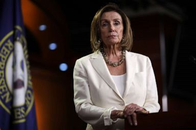 PHOTO: Speaker of the House Nancy Pelosi answers questions during a press conference at the Capitol in Washington D.C., July 11, 2019.