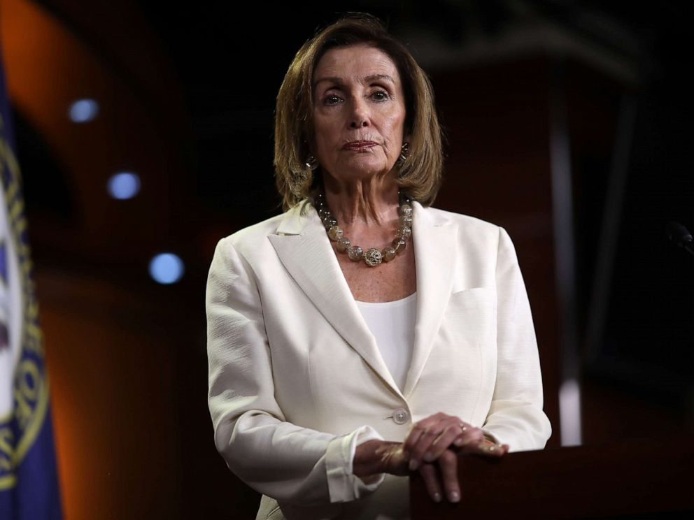 PHOTO: Speaker of the House Nancy Pelosi (D-CA) answers questions during a press conference at the Capitol, July 11, 2019.