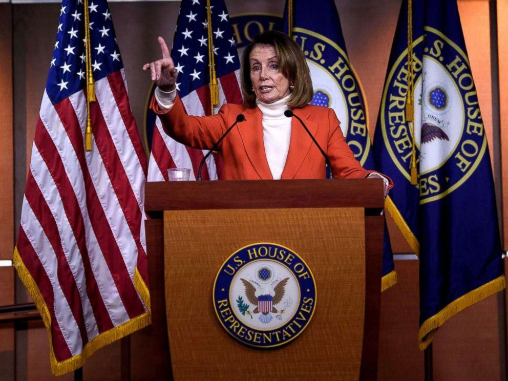 PHOTO: House Minority Leader Nancy Pelosi speaks to reporters on Capitol Hill, Nov. 15, 2018.