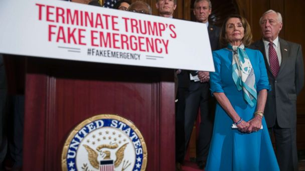 House votes to terminate Trump's national emergency declaration for border wall funding