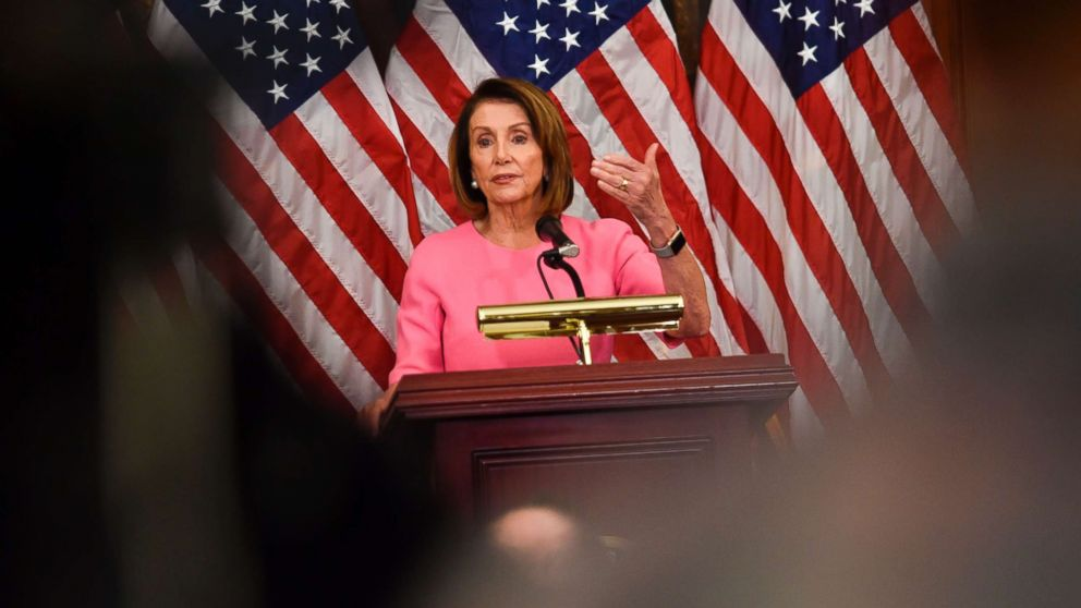 House Minority leader Nancy Pelosi speaks during a press conference after Democrats took back control of the house in Washington, D.C., Nov. 7, 2018.