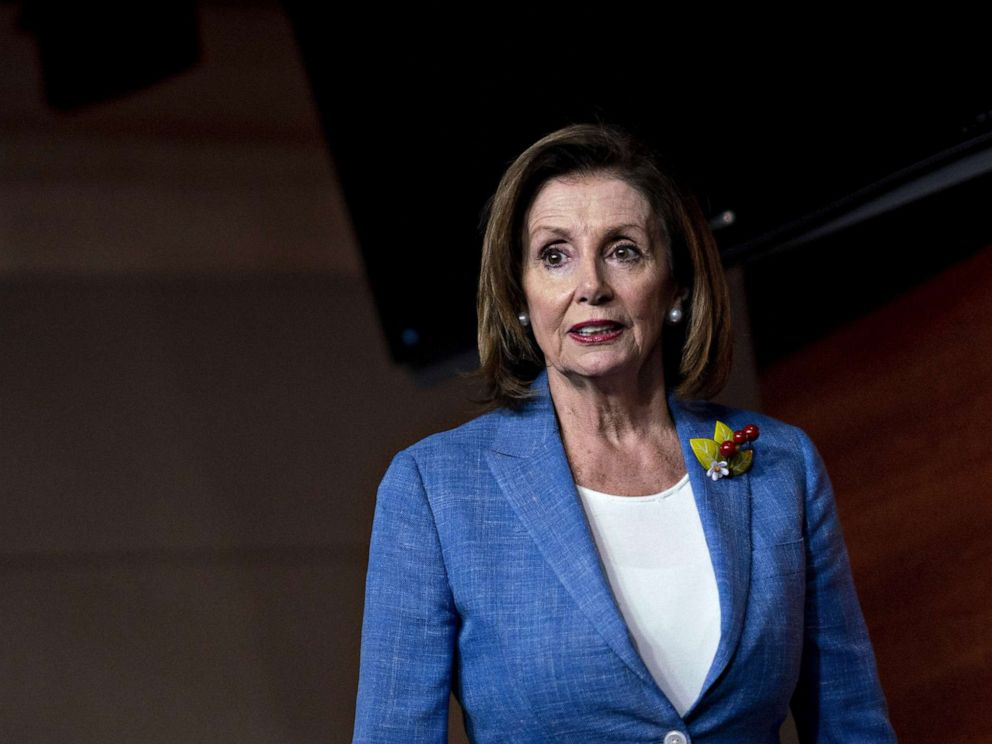 PHOTO: House Speaker Nancy Pelosi arrives for a news conference on Capitol Hill in Washington, D.C., July 26, 2019.