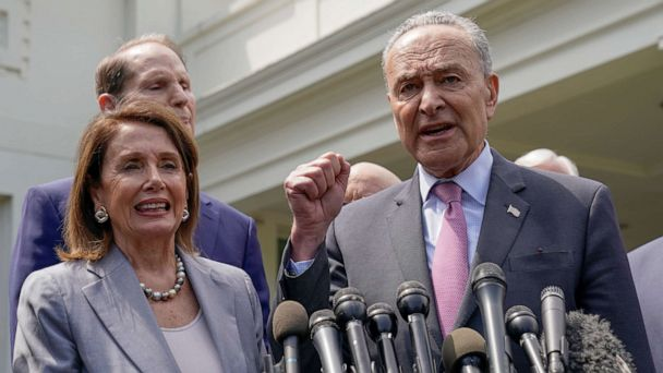 Democrats announce agreement with President Trump to spend $2 trillion on 'big and bold' infrastructure plan