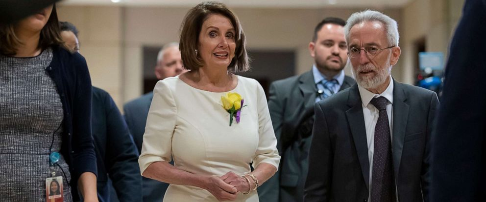 PHOTO: Speaker of the House, Nancy Pelosi arrives to attend a classified intelligence briefing at the Capitol in Washington, May 21, 2019.