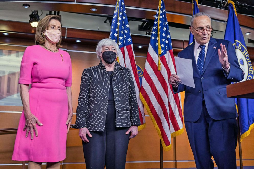 Schumer, Pelosi announce 'framework' to pay for $3.5T infrastructure bill -  ABC News