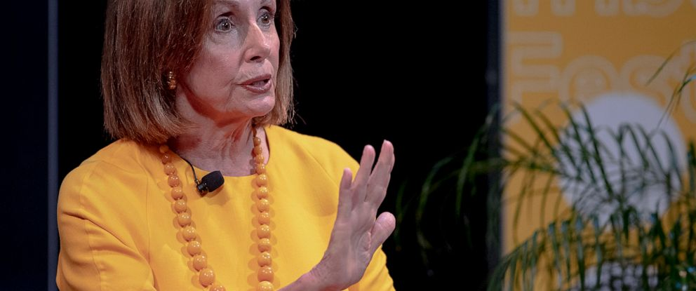 PHOTO: Speaker of the House Nancy Pelosi, D-Calif., speaks during an interview at The Texas Tribune Festival on Saturday, Sept. 28, 2019, in Austin, Texas.
