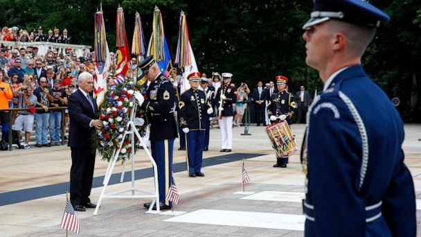 Vice President Pence visits Arlington National Cemetery for Memorial Day observance