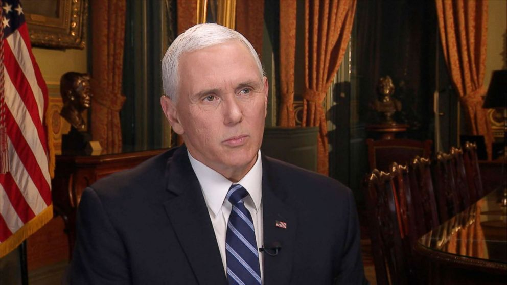 "Vice President Mike Pence appears on ""Good Morning America,"" Jan. 8, 2019."