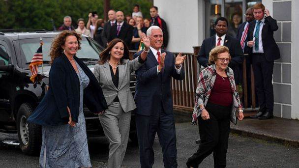 Pence's stay at Trump property in Ireland is focus of Senate