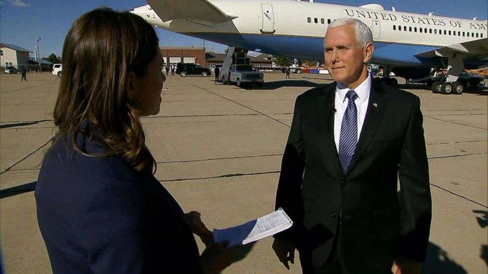 ABC News' Tara Palmeri speaks with Vice President Mike Pence in New Mexico, Oct. 26, 2018