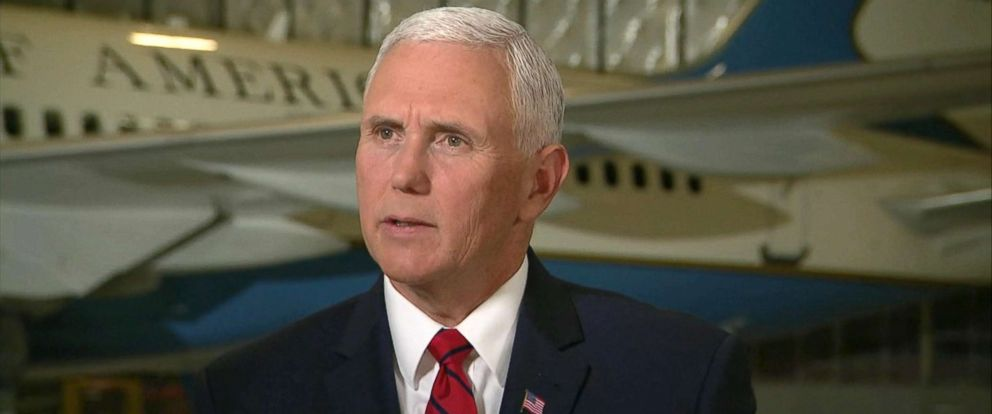 "PHOTO: Pence told ABC News Johnathan Karl in an interview Thursday morning that seeing the three men just released by North Korea ""was really one of the greatest joys of my life."""