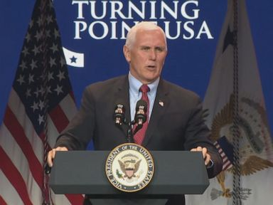 Pence speaks to large conservative gathering despite urging COVID-19 precautions thumbnail