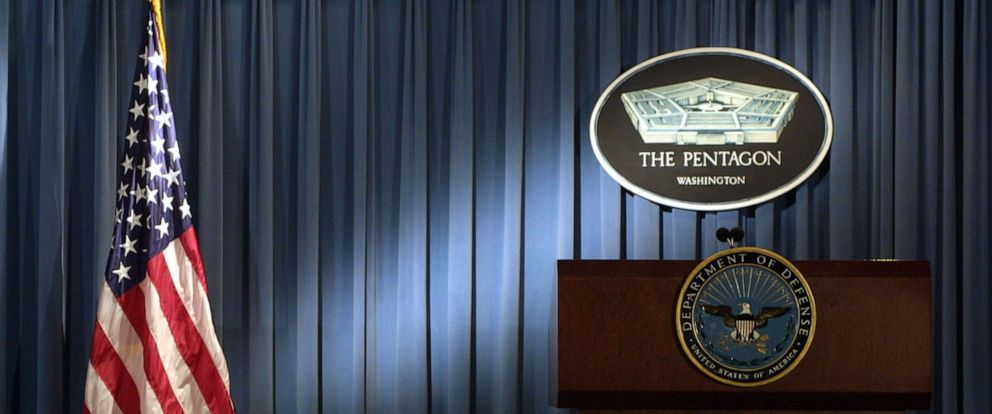 PHOTO: The briefing room at the Pentagon in Arlington, Va., Jan. 3, 2002.