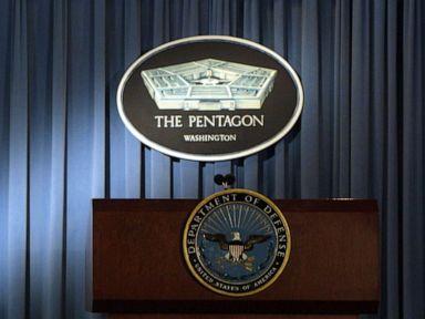PHOTO: The briefing room at the Pentagon in Arlington, Va., Jan. 3, 2002.