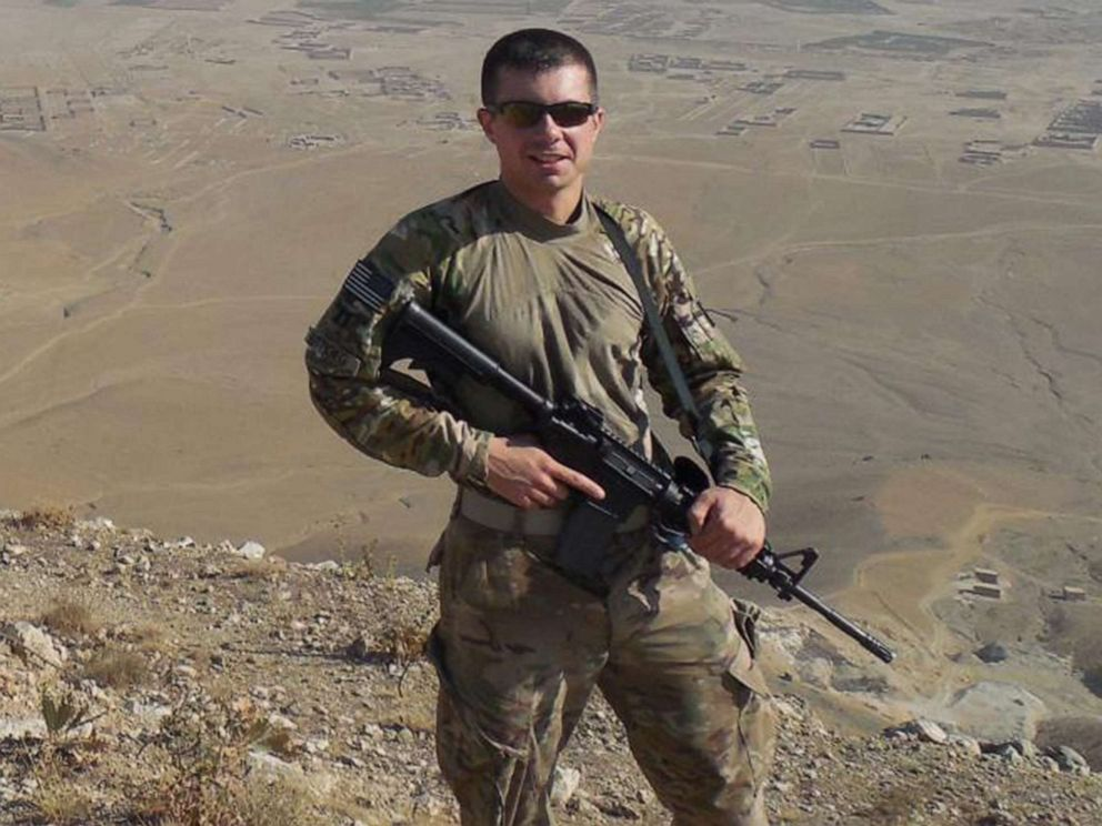PHOTO: Pete Buttigieg is photographed during his service as a Navy intelligence officer in Afghanistan in 2014.