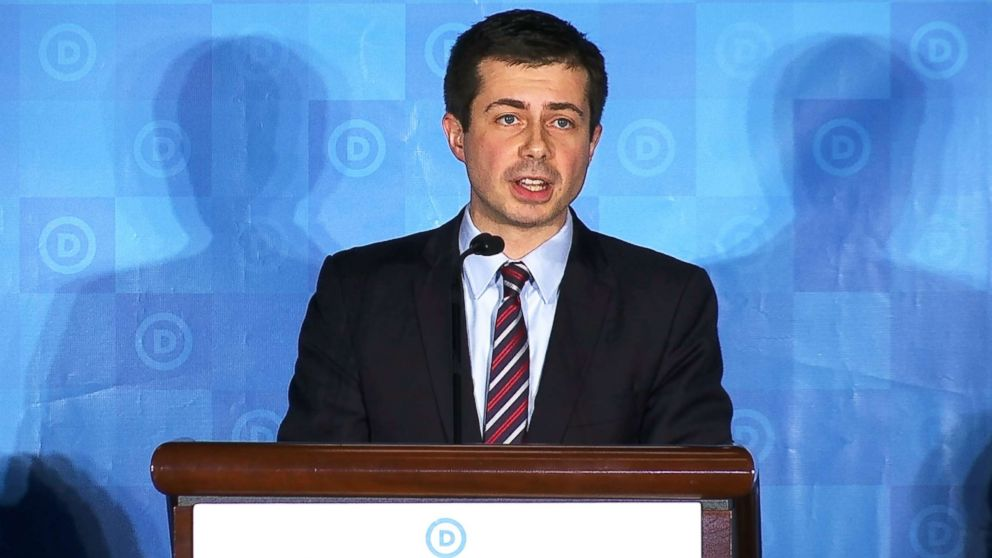 Pete Buttigieg, the mayor of South Bend, Ind., is seen at the Democratic National Committee Winter Meeting in Atlanta on Feb. 25, 2017.