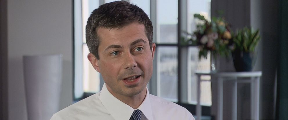 """PHOTO: Pete Buttigieg, mayor of South Bend, Indiana, for the past seven years, speaks with """"Nightline"""" about seeking the Democratic nomination in the 2020 presidential election."""