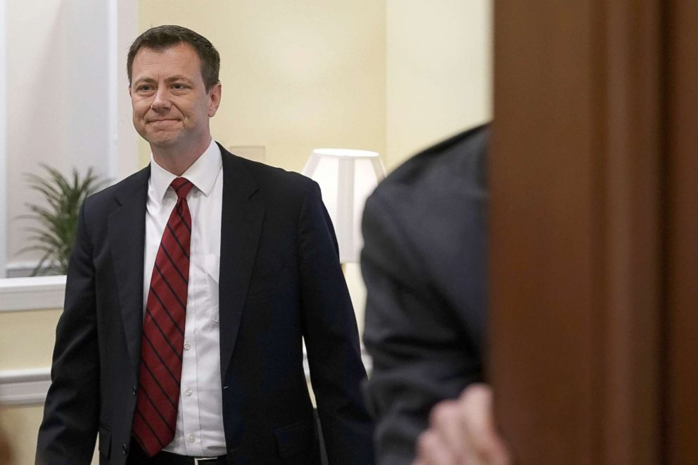 PHOTO: FBI Agent Peter Strzok arrives at a closed door interview before the House Judiciary Committee, June 27, 2018, on Capitol Hill in Washington, DC.