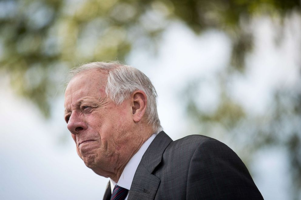 PHOTO: Democratic candidate for U.S. Senate and former governor of Tennessee Phil Bredesen attends a groundbreaking event for a new Tyson Foods chicken processing plant, May 30, 2018, in Humboldt, Tennessee.