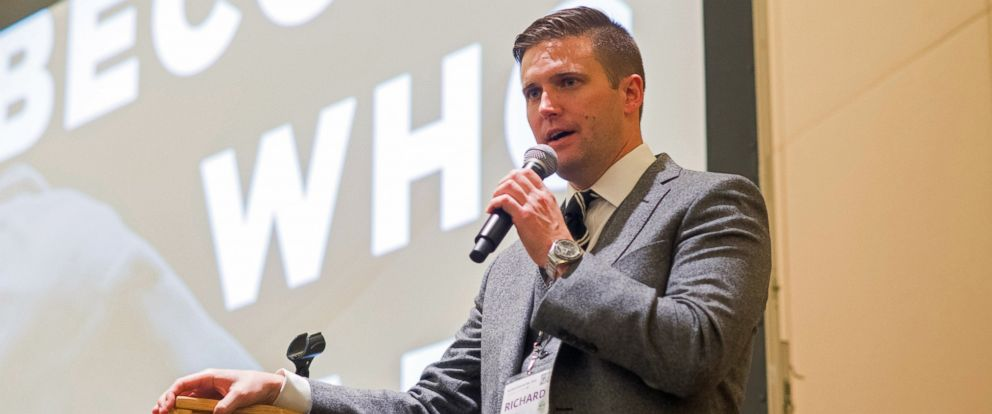 PHOTO: Richard Spencer, chairman of the white nationalist National Policy Institute speaks at an event in Washington, Nov. 19, 2016.