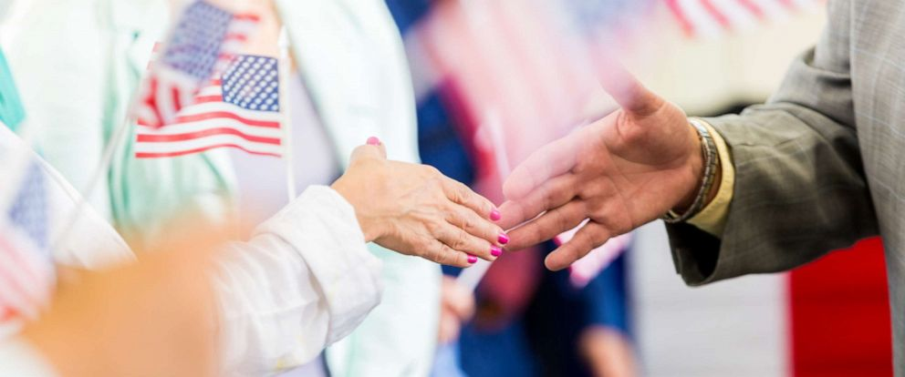 PHOTO:An undated stock photo of what appears to be an American politician shaking hands.