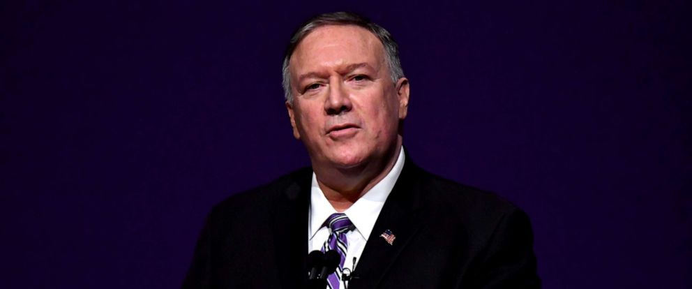 PHOTO: United States Secretary of State Michael Pompeo delivers the years first Alfred M Landon Lecture at Kansas State University, Manhattan, Kansas, September 6, 2019.