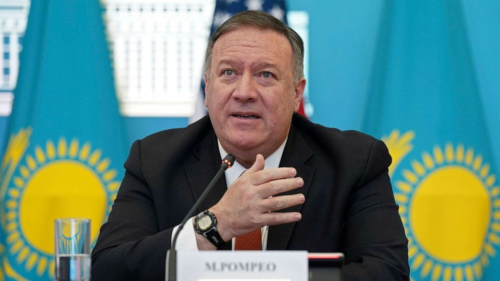 Pompeo defends his attacks on US media as 'perfect message' in former Soviet states thumbnail