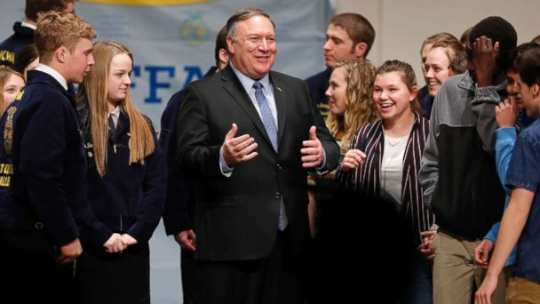 Secretary of State Mike Pompeo sparks talk about his political future with Kansas trip